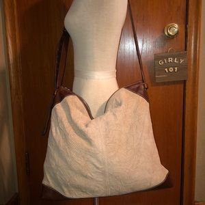 Banana Republic Large textured leather handbag